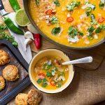 Thai butternut squash and sweet potato soup