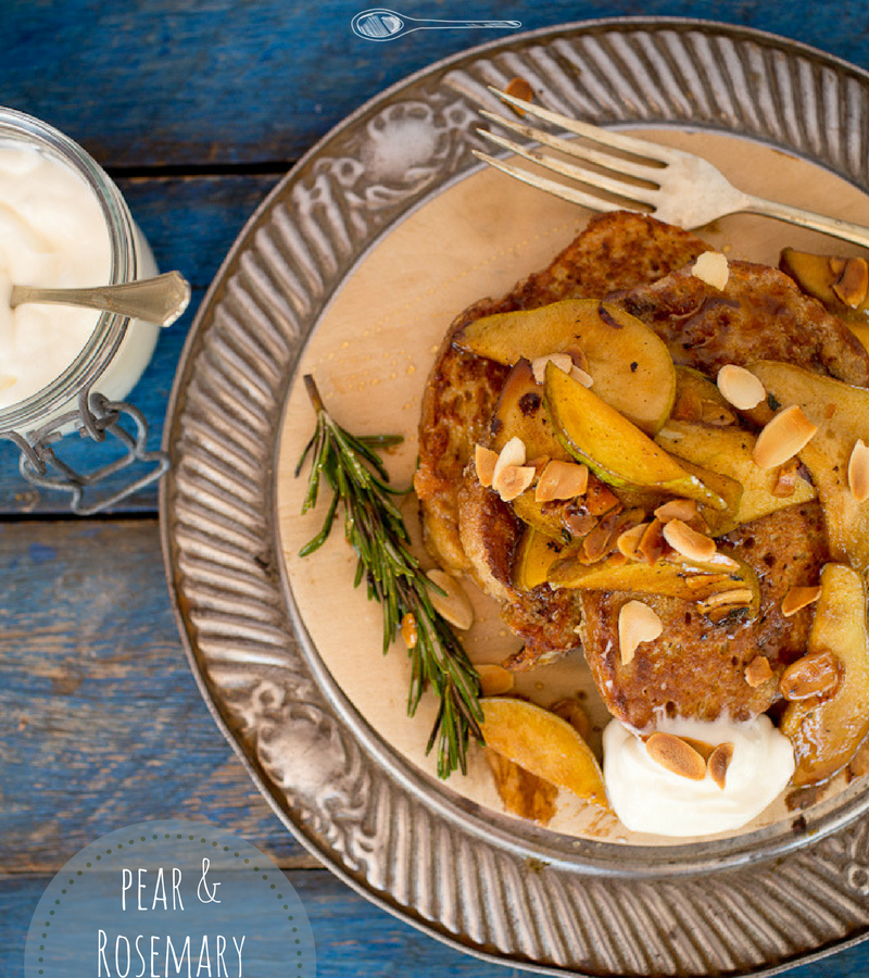 Pear and rosemary french toast
