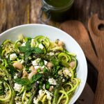 Courgetti and butter bean pesto salad