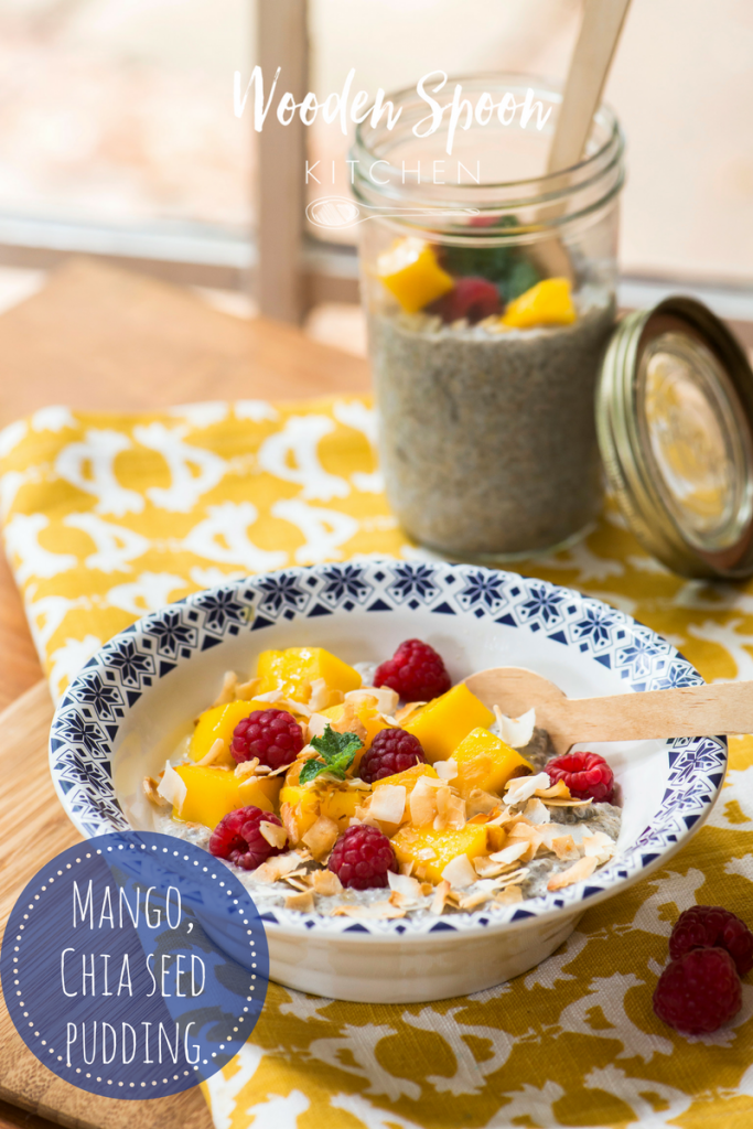 Mango and chia seed pudding