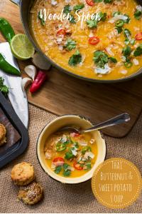 Thai Butternut and sweet potato soup