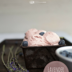 Lavender and lemon ice cream