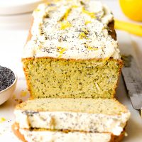 Gluten free lemon and poppy seed cake