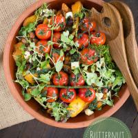 Warm butternut salad