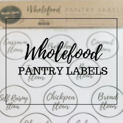Wholefood pantry labels