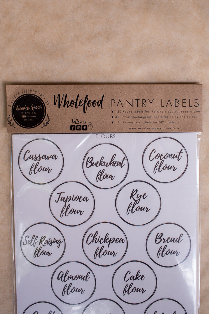 Wholefood Pantry Labels Set From Wooden Spoon Kitchen