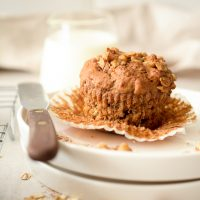 Banana muffins with oaty crumble