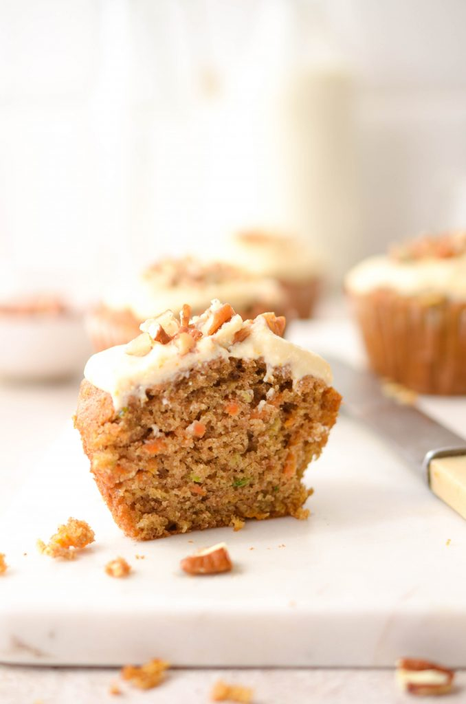 Carrot & courgette muffins