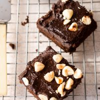 Black bean brownie with 'Nutella' frosting